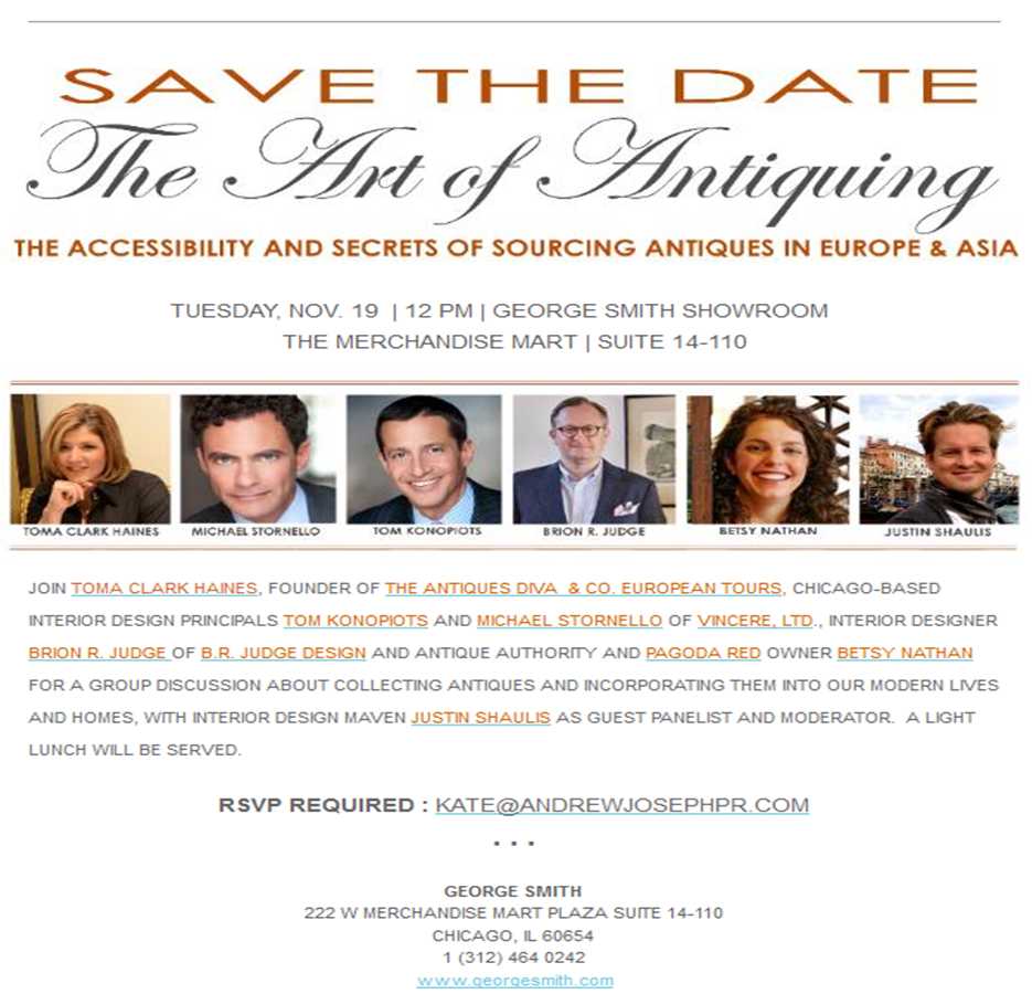Chicago Antiques Diva Invitation