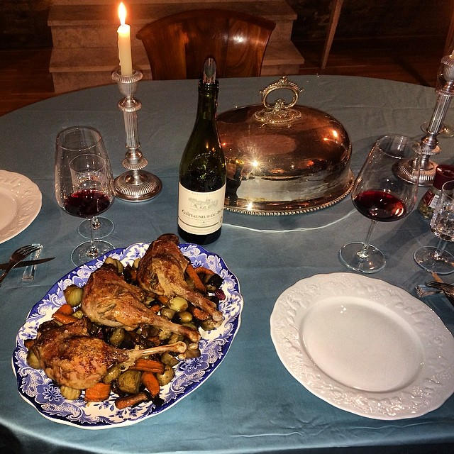Goose Dinner - The Antiques Diva