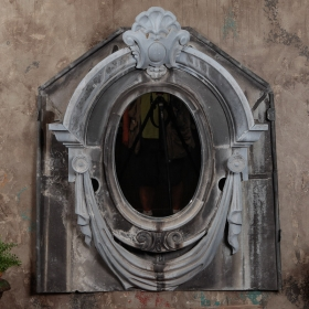 Zinc Oeil de Boeuf, Antique Zinc, Buying architectural fragments in Europe, Designing with Zinc, The Antiques Diva, Trends in Design, Trends in Antiques,