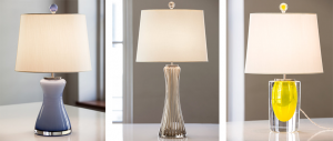 3 handmade Murano glass lamps by PORTE-COCHÈRE Brand Member Cartwright