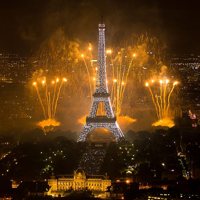 Eiffel Tower Fireworks, Antiques Diva, French history, Bastille Day, Bastille Prison, French Republic Guard on Horse, Eiffel Tower Fireworks, Toma Clark Haines