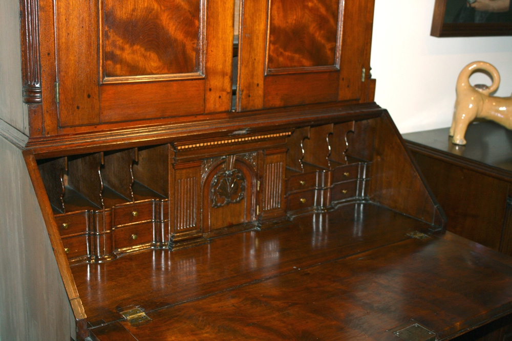 Antique desks, hidden compartments, back to school series, Antiques Diva,