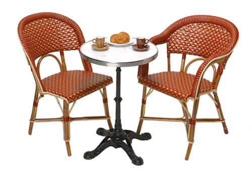 bistro table french cafe chairs paris cafe chairs rattan les deux