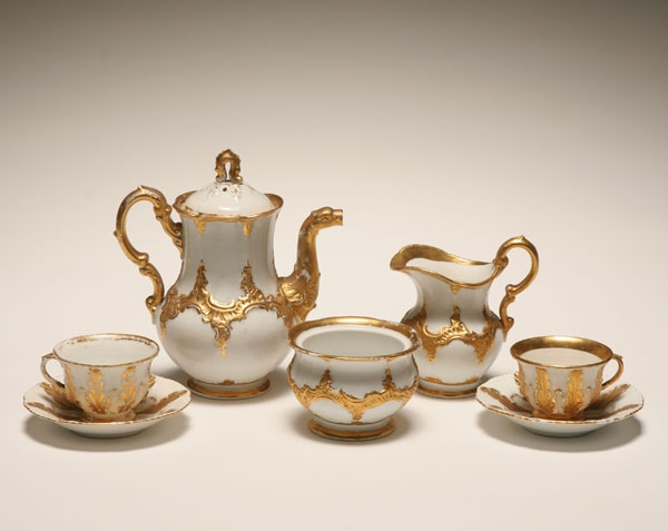 Antique tea sets, the history of tea time, The Antiques Diva, Porcelain tea sets