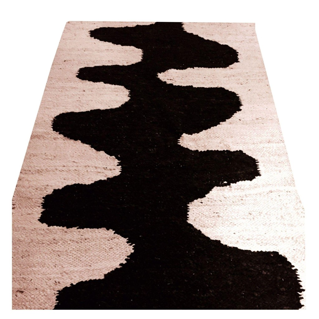 Hand Woven Black & Cream Design Wool Rug, Chairish, Fortune Favors the Bold, Go Bold or Go Home, Maison Objet, The Antiques Diva, Design Style Board, Decorating with Antiques, Mid-Century Modern
