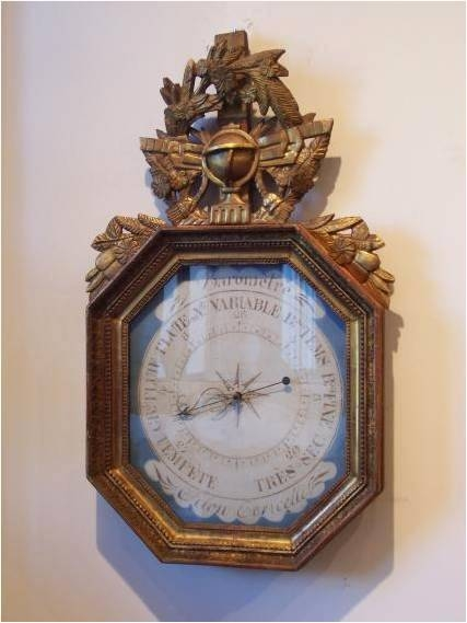Antique Barometers, Objet d'art, Gilded Barometers, Antiques Diva, French Barometer