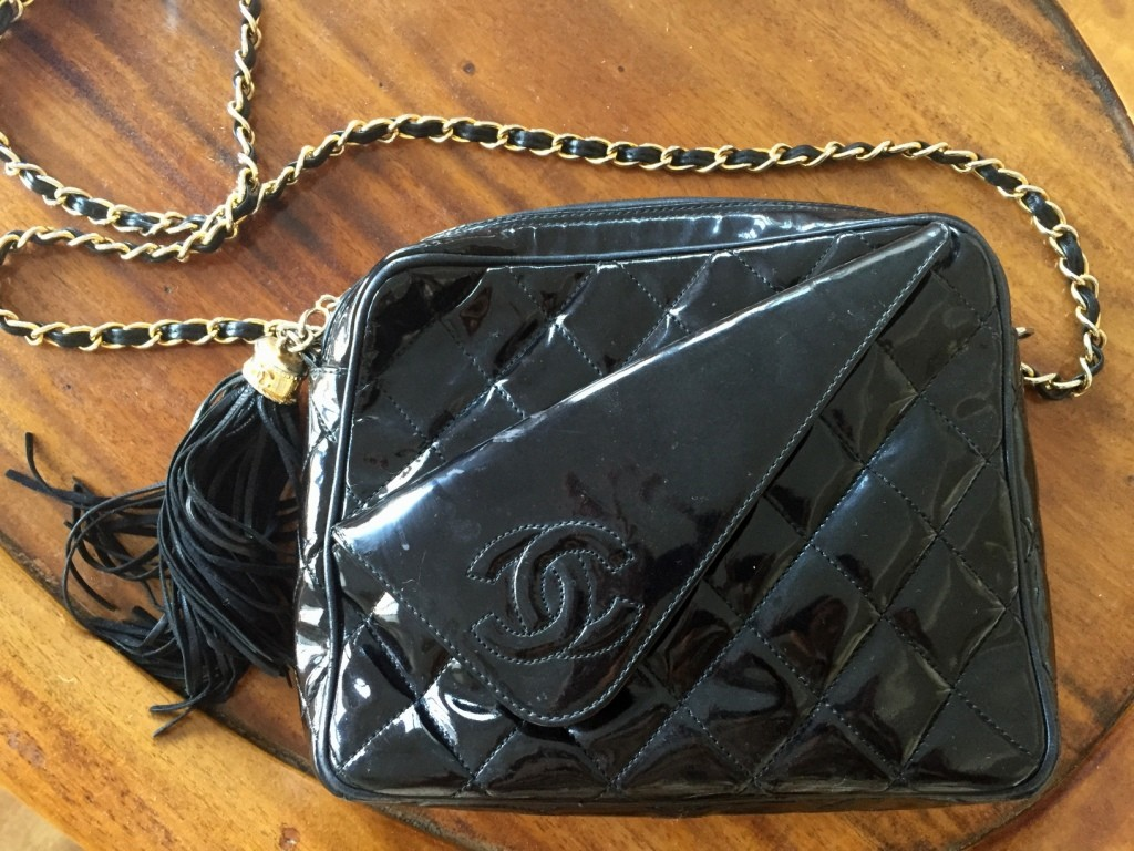 Vintage Chanel, Hire Catherine, Catherine Russell, Toma Clark Haines, The Antiques Diva, Repurposing, Vintage Purses, Mautto, Lynette Sedenquist, Chanel Photo Bag