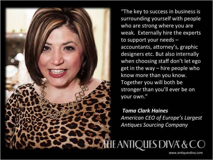 Tips on being an Entrepreneur, Setting up a business in Europe, Women in Business, Women Entrepreneurs, Expatica, Crave Guide, WIN, Women in International Networking, Toma Clark Haines, The Antiques Diva
