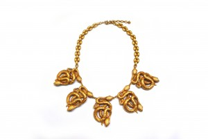 Linda Bee - 18ct gold plated snake necklace by Askew London £250