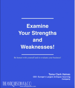 Entrepreneur Series- Strengths and Weaknesses Examine your Strengths slogan