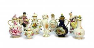 Serhat Ahmet Antiques - A selection of European porcelain scent bottles and stoppers from Meissen and the Paris manufactories.