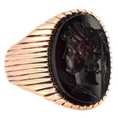 Intaglio Mens Ring