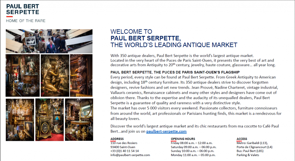 Paul Bert Serpette, Paris Flea Market, Worlds Largest Antiques Market, Buying French Antiques in Paris