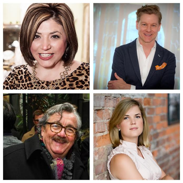 Toma Clark Haines, The Antiques Diva, Rocky LaFleur of Kneedler Fauchere, Elizabeth Ralls, Editor and Chief of Atlanta Homes & Lifestyles and Chuck Chewning, Director of Interior Design at RUBELLI.
