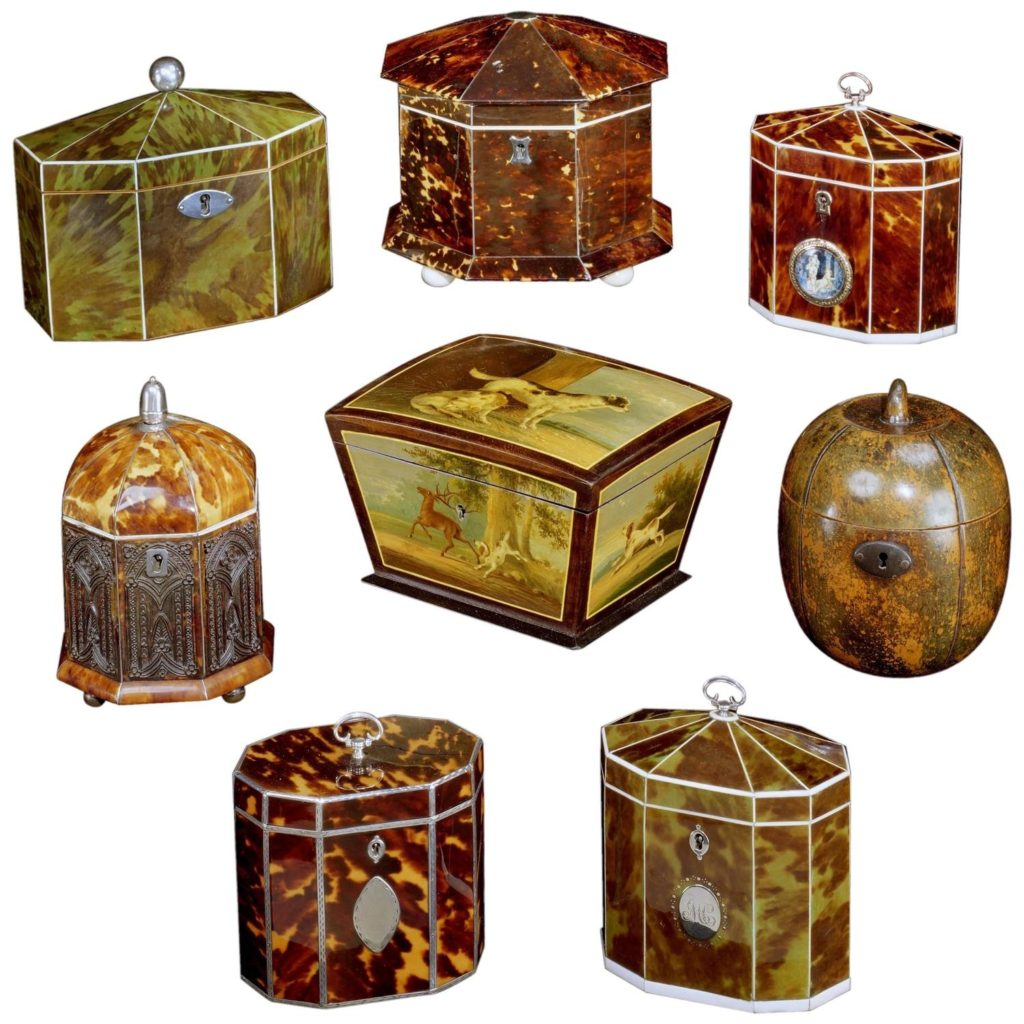 English tea caddies-collection