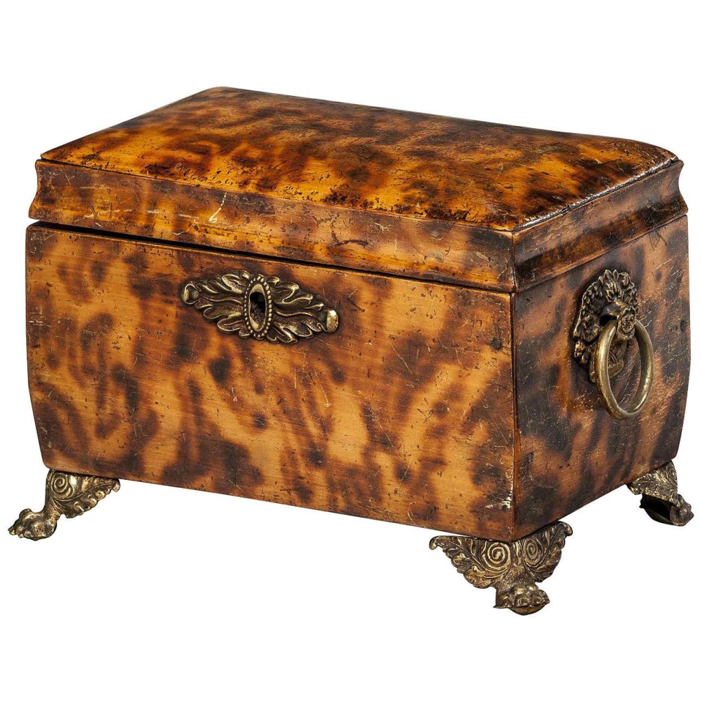 English Tea Caddy- Tortoiseshell