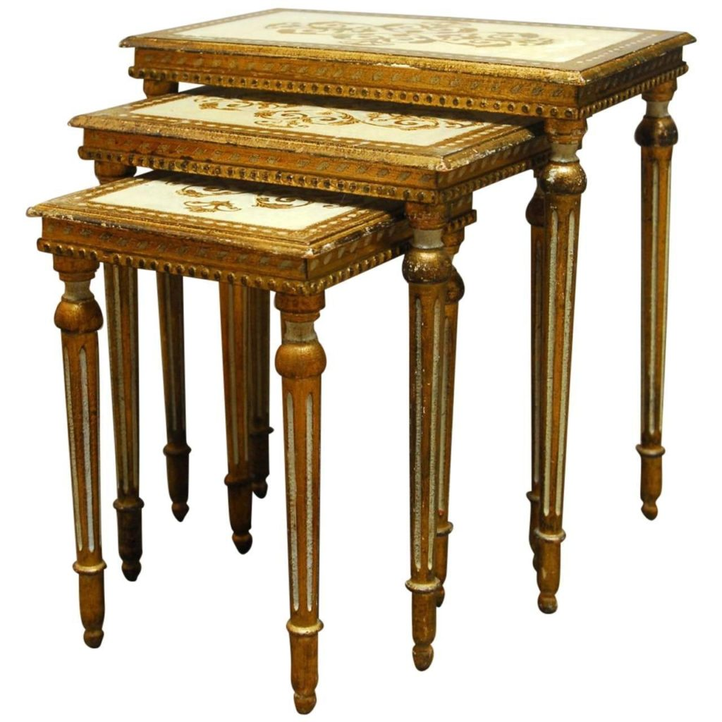 Three Florentine Nesting Tables