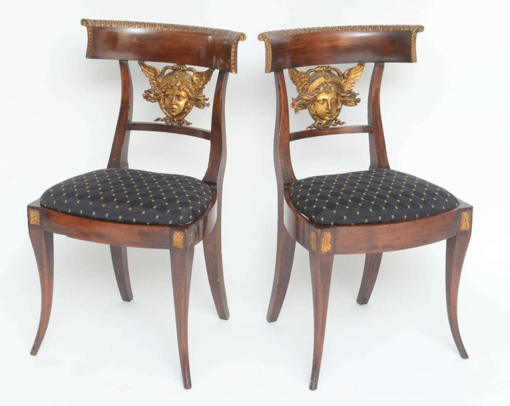 Neoclassical Carved Side Chairs