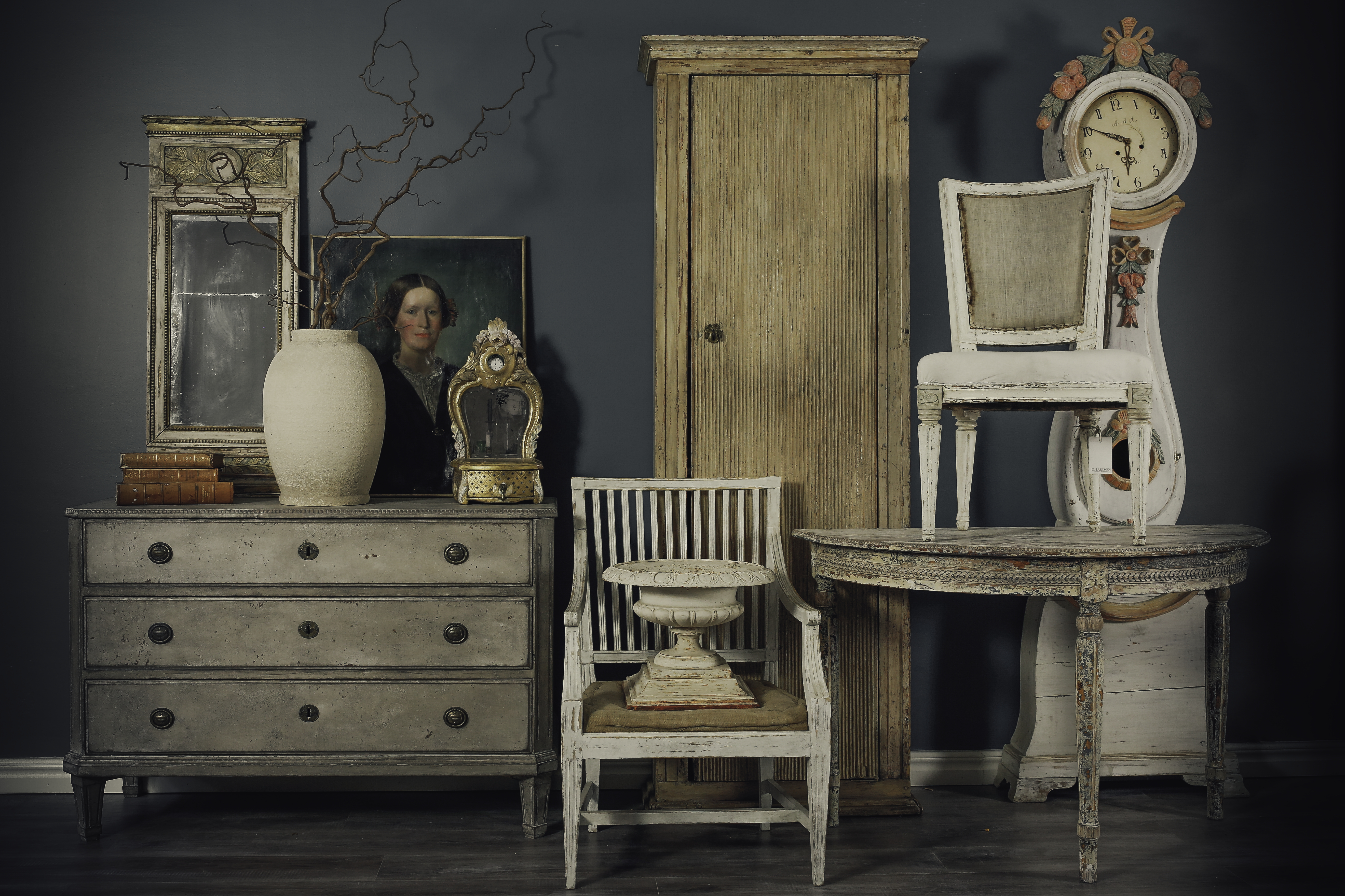 Swedish antiques sourced on an Antiques Diva buying tour