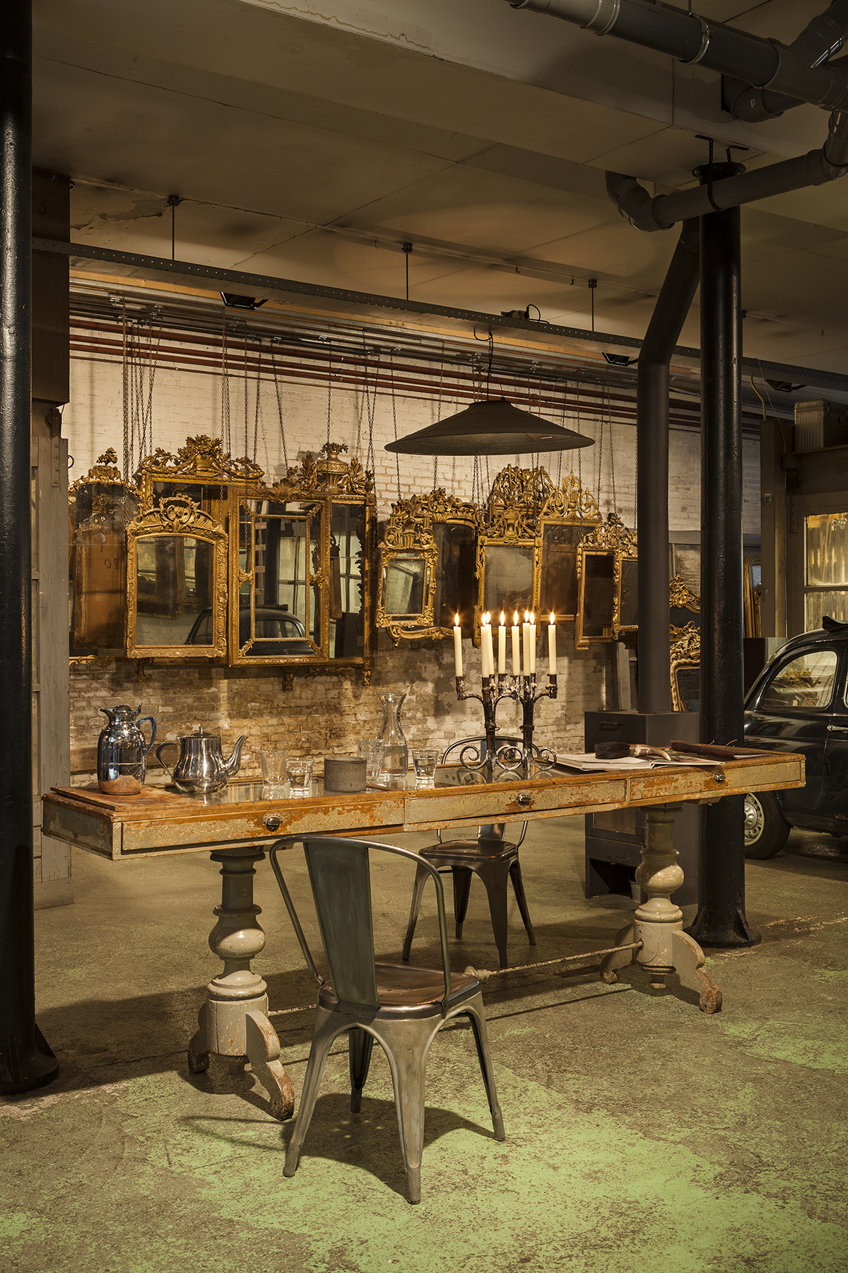 antique French mirrors found sourcing antiques in The Netherlands
