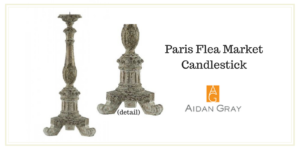 My 1st Time at the Paris Flea Market - Paris Flea Market Candlestick by Aidan Gray