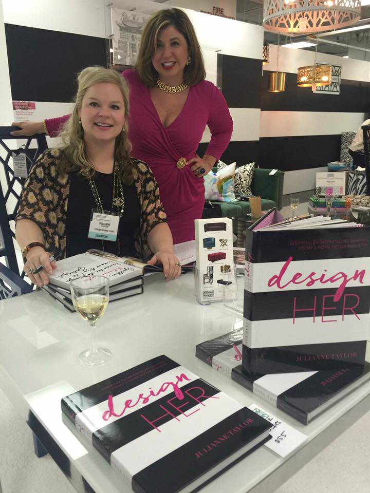 Toma Clark Haines with DesignHER author Julianne Taylor