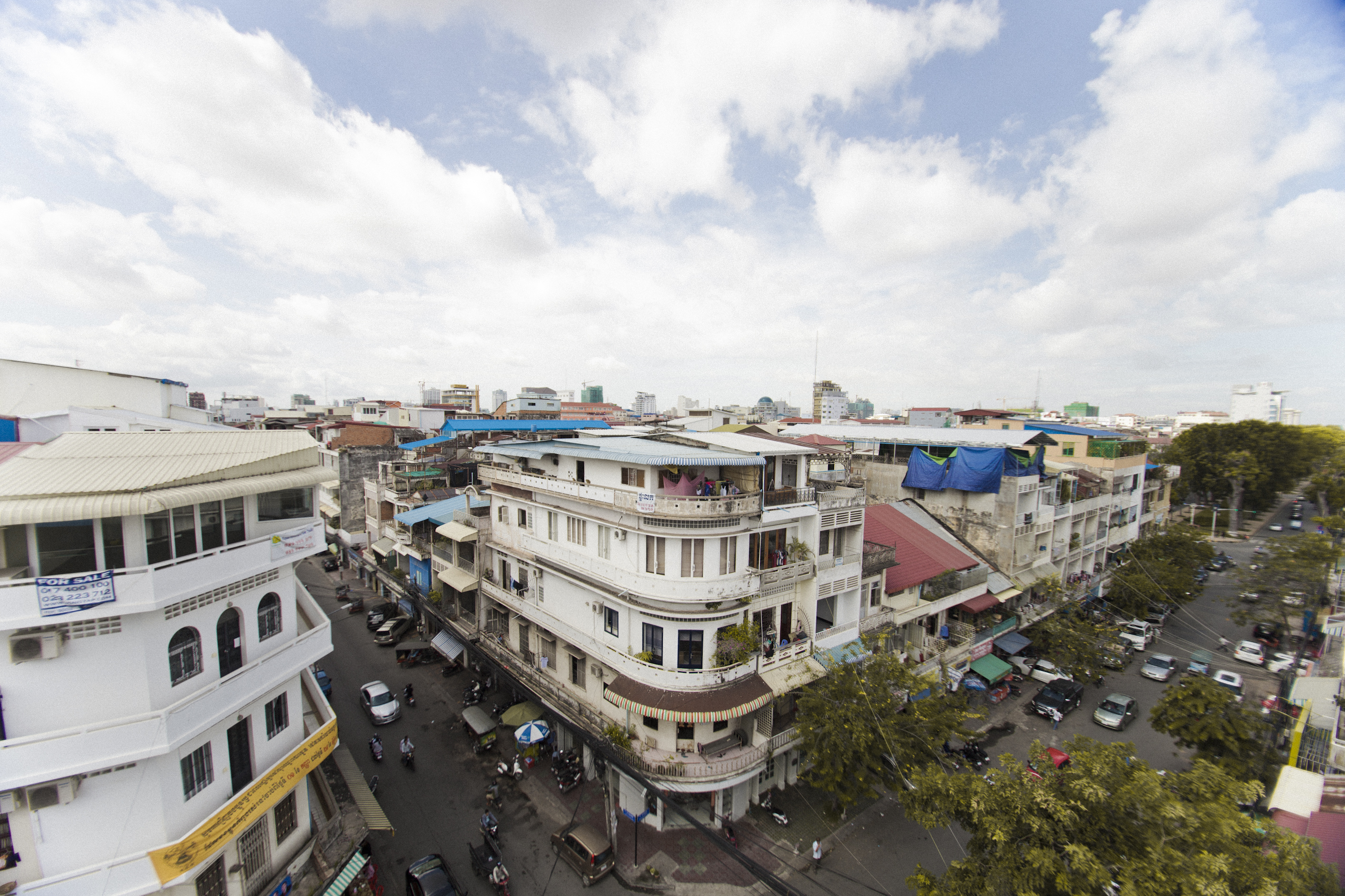 Aerial View of Phnom Penh from Ambre Cambodia Asia Antiques Buying Tours with The Antiques Diva