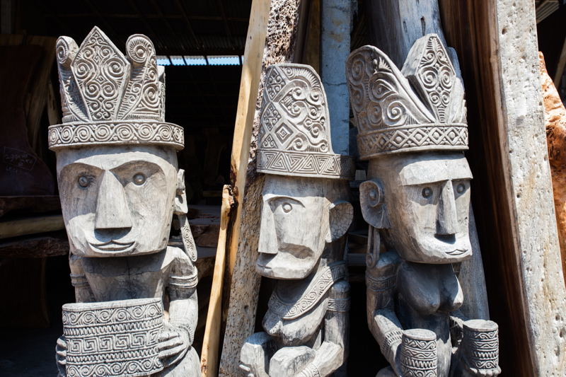 Antique Wooden Carvings from Papua New Guinea: Indonesia Antique Buying Tours with The Antiques Diva & Co