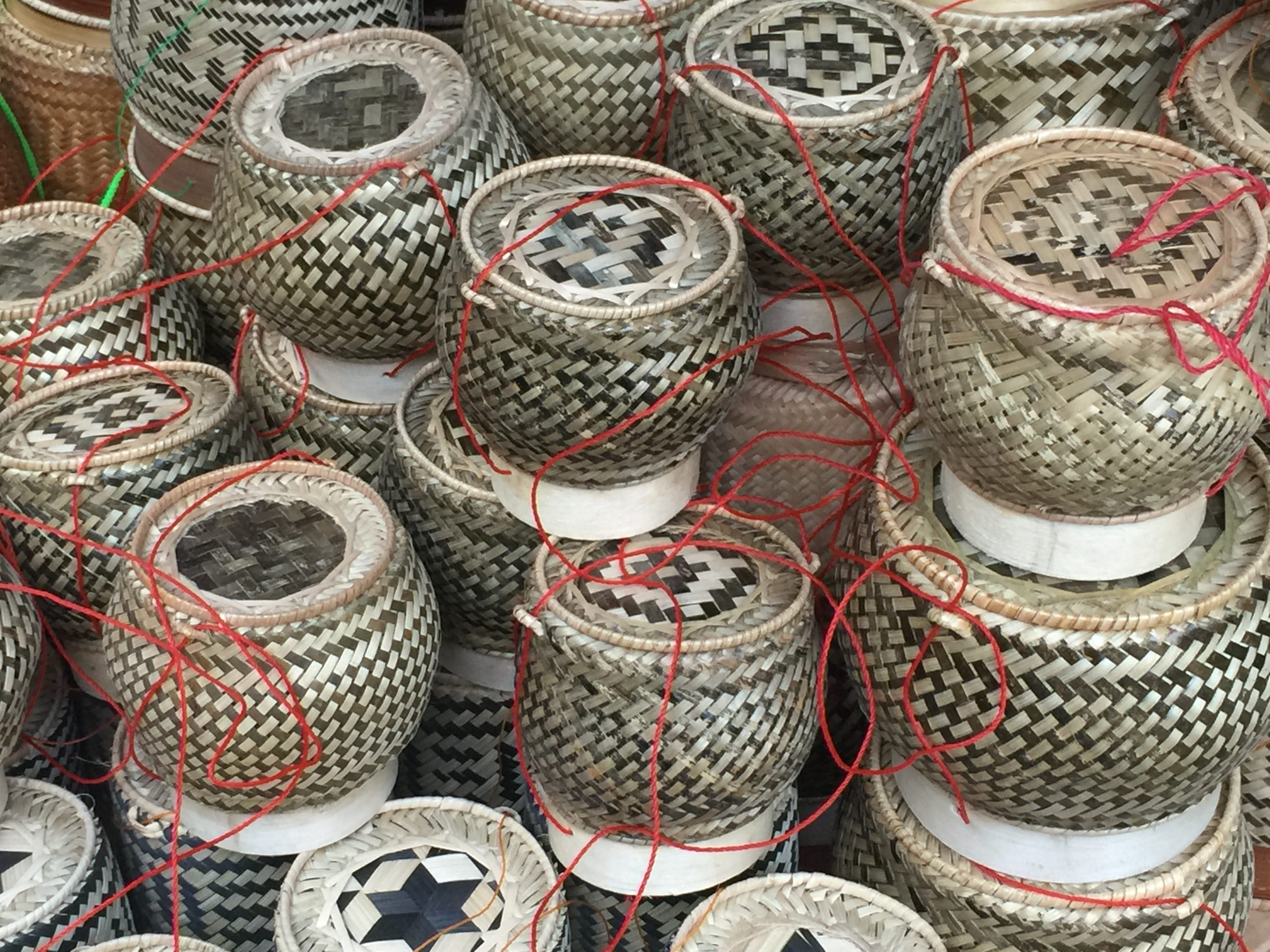 Handwoven Sticky Rice Baskets Luang Prabang Laos Asia Antiques Buying Tours with The Antiques Diva
