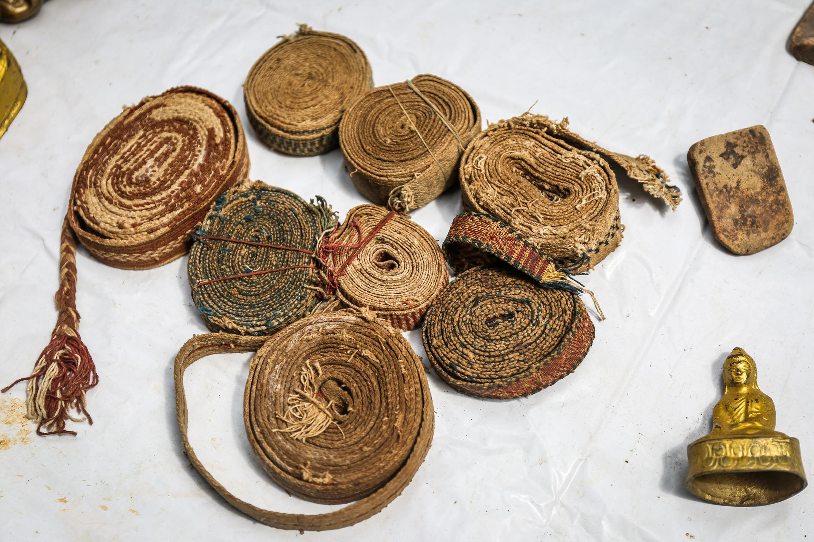 Traditional Burmese Manuscript Belts (Sazigyo) Yangon Myanmar (Burma) Asia Antiques Buying Tours with The Antiques Diva