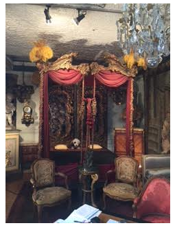 pair of 18th century beds at the Paris Flea Market
