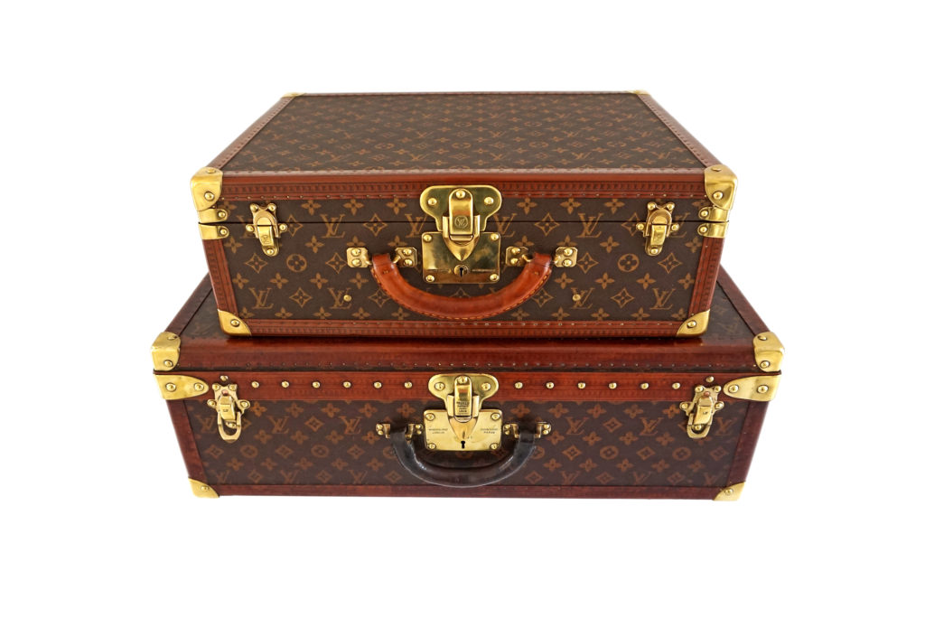 Louis Vuitton trunks at Tin Tin Collectables Alfies London