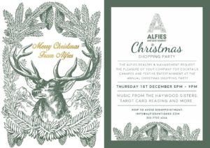 Alfies London Christmas Shopping Party