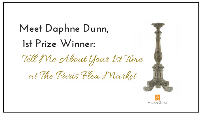 Meet Daphne Dunn: 1st Place Winner: KISMET: My 1st Time at the Paris Flea Market