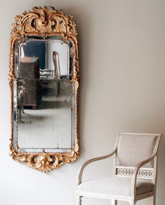 How to Buy Antiques in Sweden: Swedish Rococo Mirror