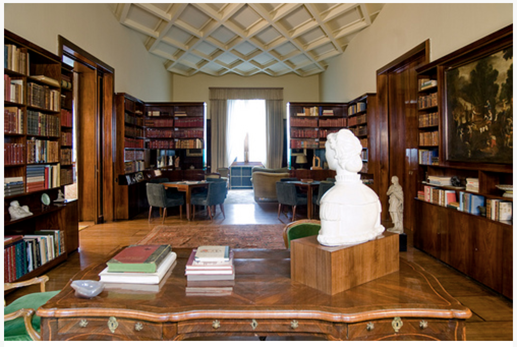 Interior Designer John Eason on Antiques Diva Italy Design Inspiration Tour: Library Villa Necchi Campiglio