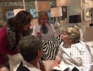 Toma Clark Haines with Bunny Williams at HPMKT