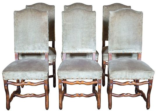 French chairs Lolo French Antiques: Os de Mouton dining chairs