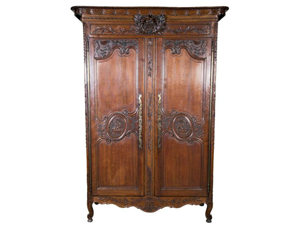 COUNTRY FRENCH LOUIS XV STYLE NORMANDY WEDDING ARMOIRE