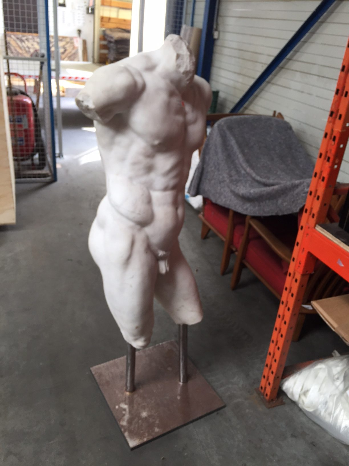 At an Antiques Dealer in Brussels: Crating, packing and shipping antique statuary