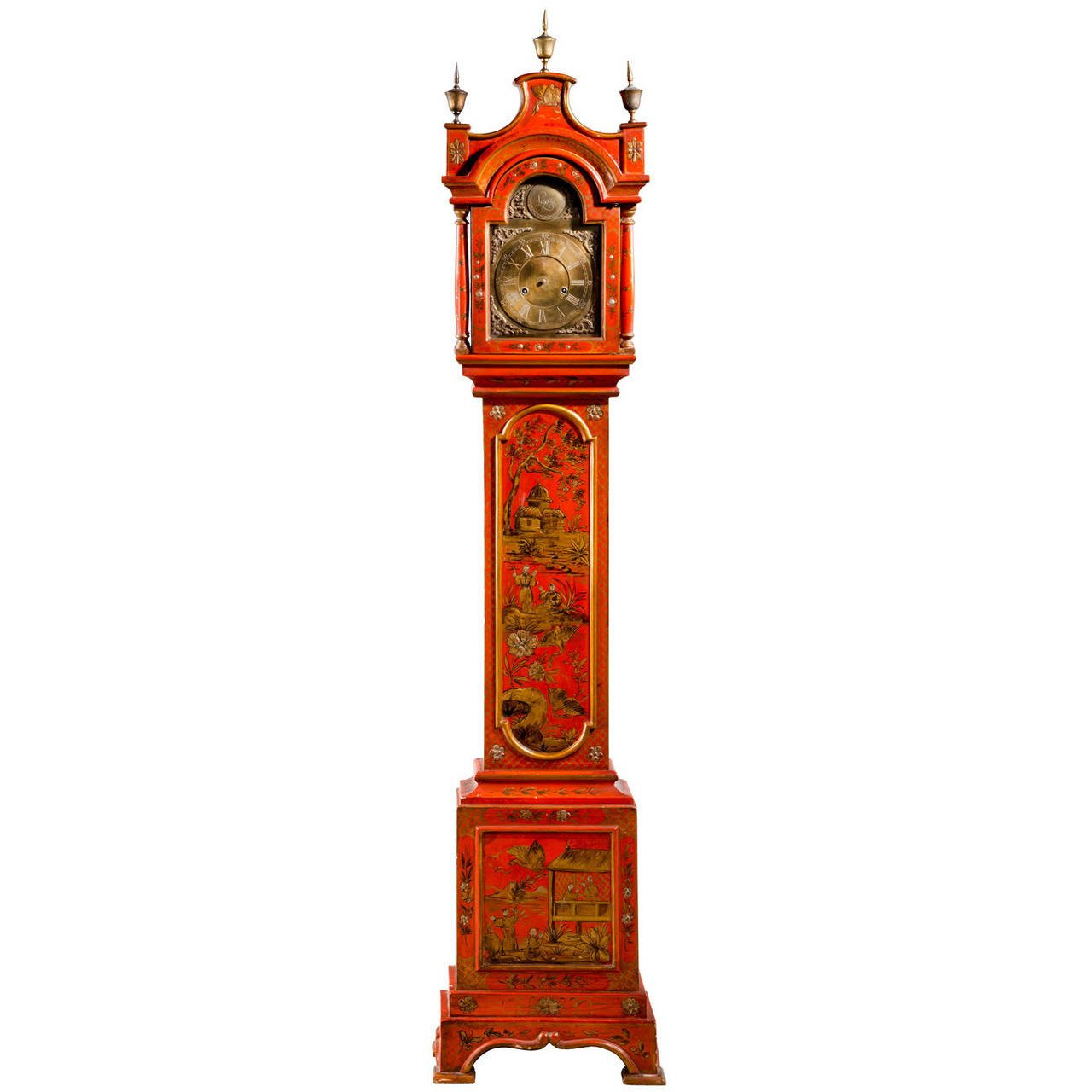 Early 20th Century Chinoiserie Granddaughter Clock 1st Dibs