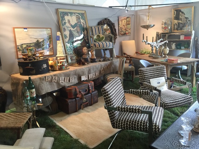Girls Guide To Paris booth at East Hamptons Antiques Show 2017 Hamptons Antiques and Design Tour