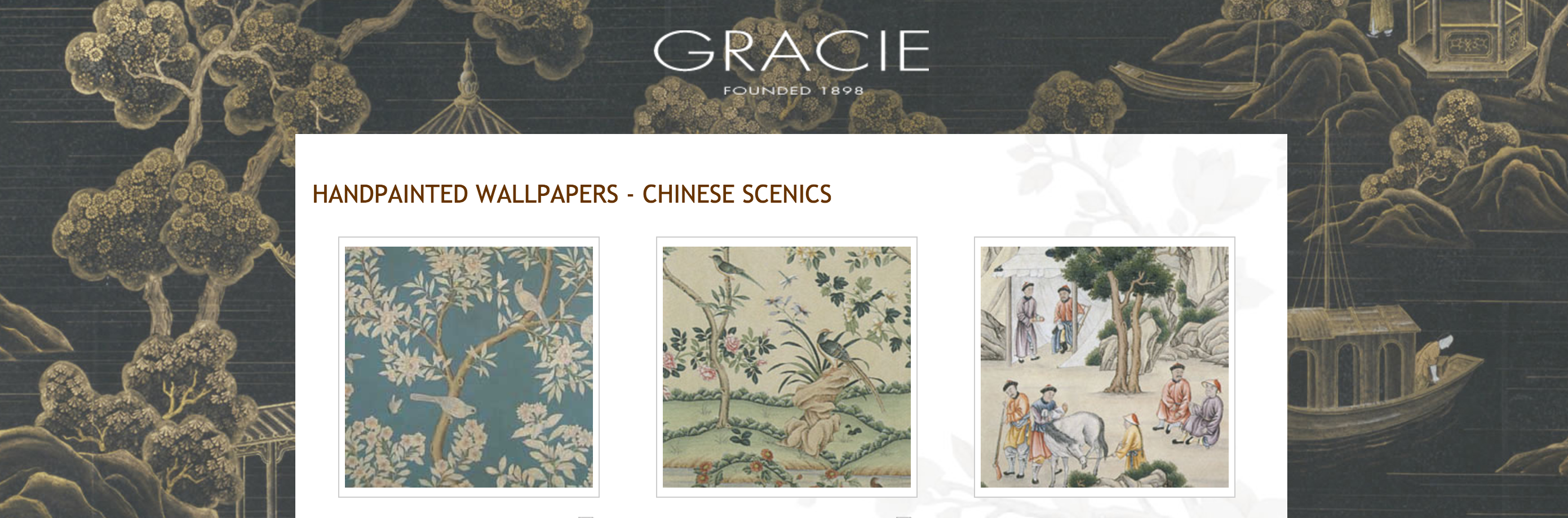 hand-painted Chinoiserie wallpaper