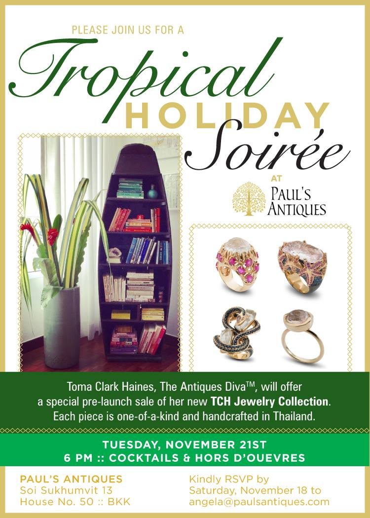 Paul's Antiques Tropical Holiday Soiree featuring Toma Clark Haines TCH Collection