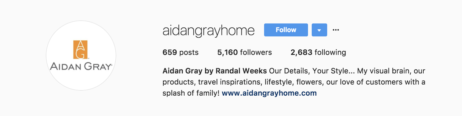 Aidan Gray Home on Instagram
