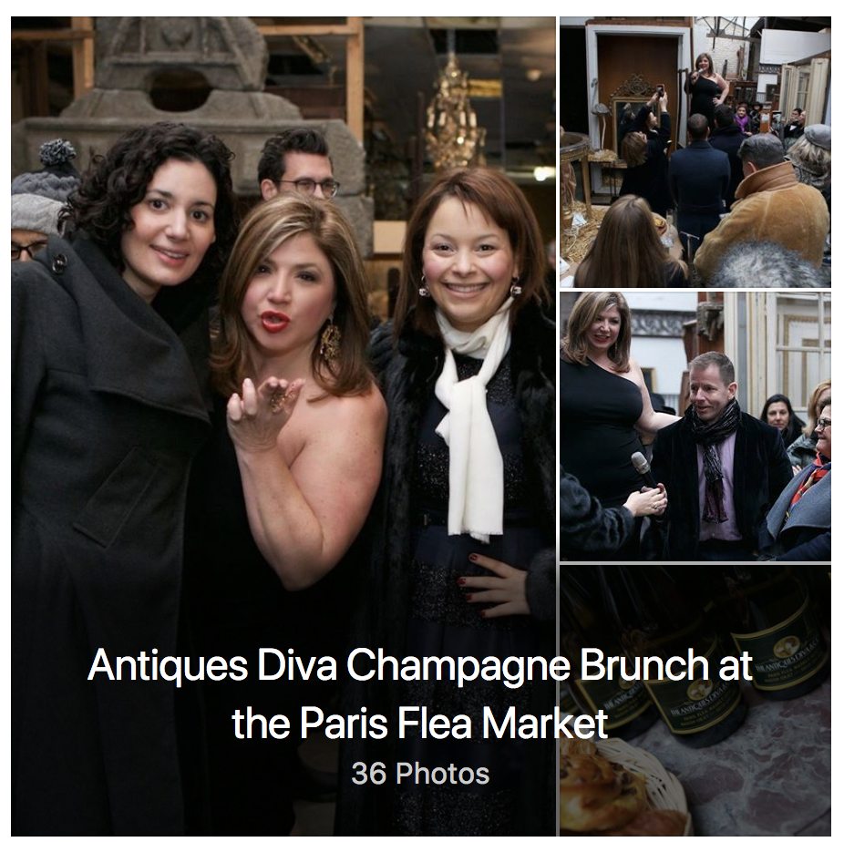 10th Anniversary Antiques Diva Champagne Brunch at the Paris Flea Market