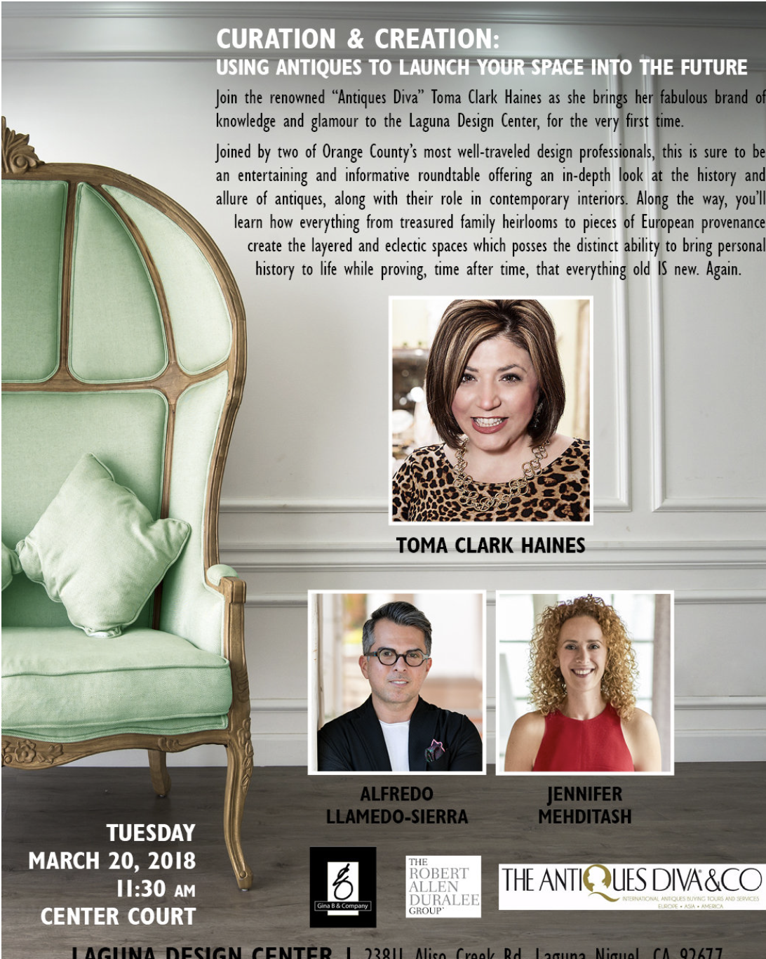 Curation & Creation- Using Antiques to Launch Your Space Into the Future | Toma Clark Haines | The Antiques Diva