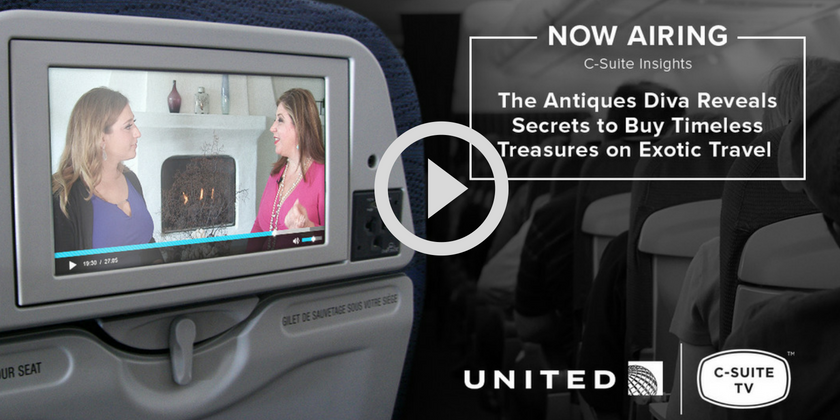 Play - Toma Clark Haines on United Airlines Inflight C-Suite Insights | Toma Clark Haines | The Antiques Diva & Co