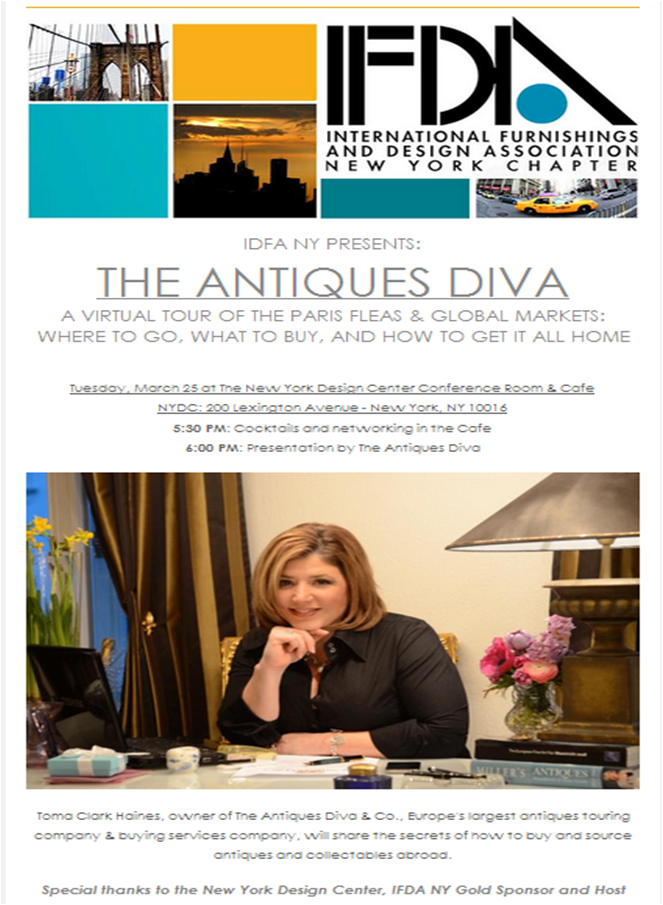 Antiques Diva - IFDA in NYC
