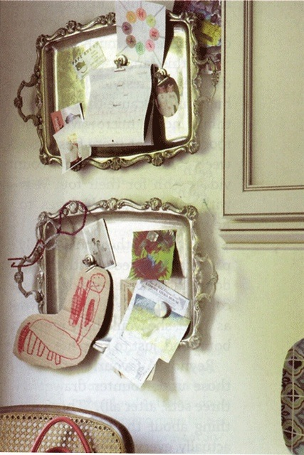 Office Decor ideas, repurposing flea market finds, mirrors